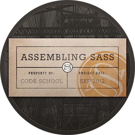 Assembling Sass badge