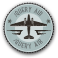 Completed jquery air first flight