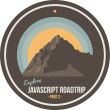JavaScript carretera Parte viaje 2 Finalización Badge