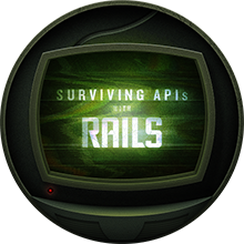 Surviving APIs with Rails badge