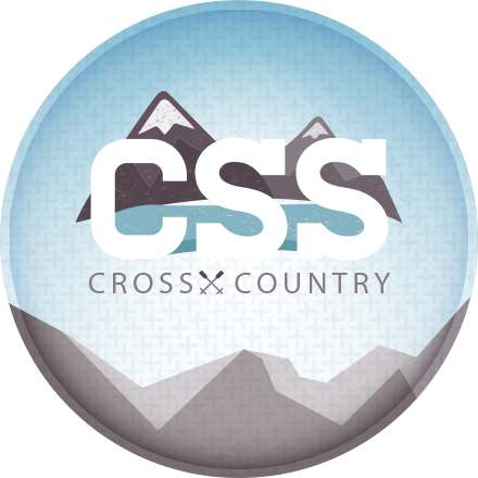CSS Cross-Country Finalización Badge