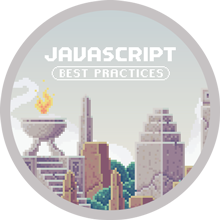 JavaScript Best Practices Completion Badge