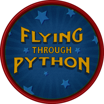 Flying Through Python Achievement Badge