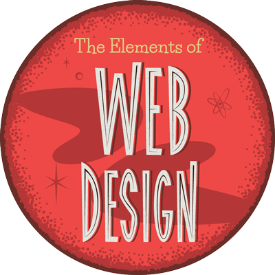 The Elements of Web Design Completion Badge