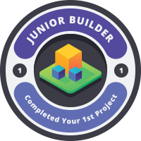 Junior Builder Badge