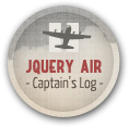 jQuery Air: Captain's Log Completion Badge