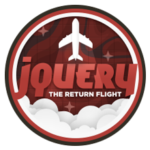 jQuery: The Return Flight badge